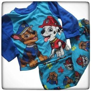 Paw Patrol Boy 2 Piece Pajama Fleece Set-Size 4